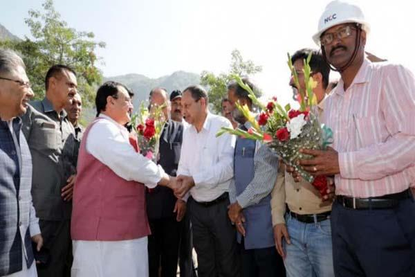cm and jp nadda inspected the aiims