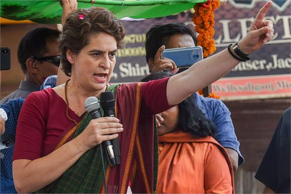priyanka accuses bjp of trying to rig the uttar pradesh by election