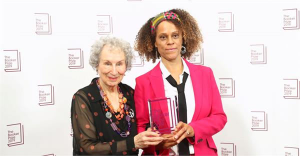 margaret atwood and bernardine evaristo share booker prize
