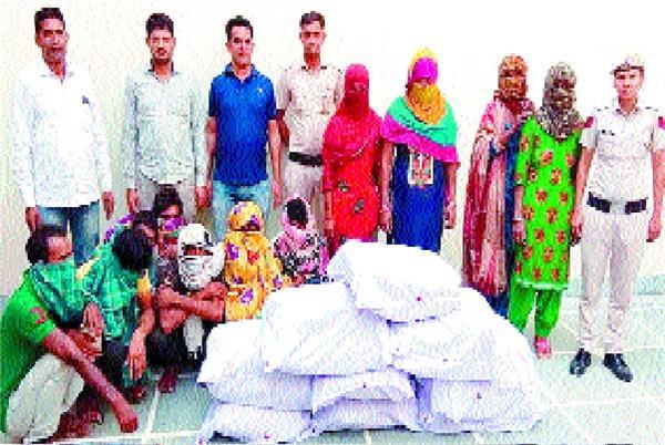 drug trafficker gang exposed 11 including 90 kg ganja
