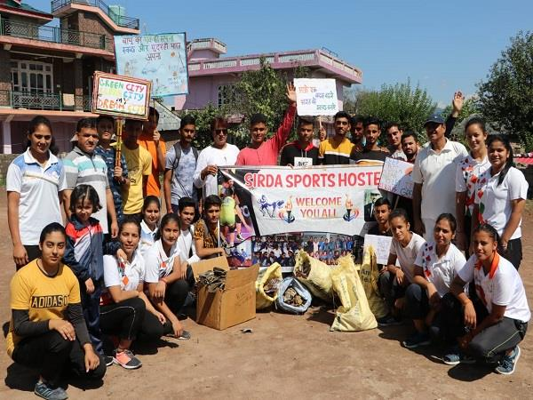 players running a cleanliness campaign on gandhi jayanti