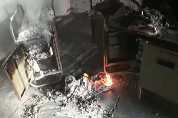 short circuit fire in nhm office