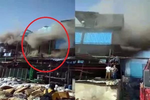 fierce fire in medicine factory in baddi