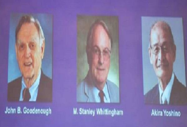 lithium ion battery three scientists receive chemistry nobel