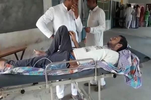 haryana election youth injured in accident reached vote in ambulance