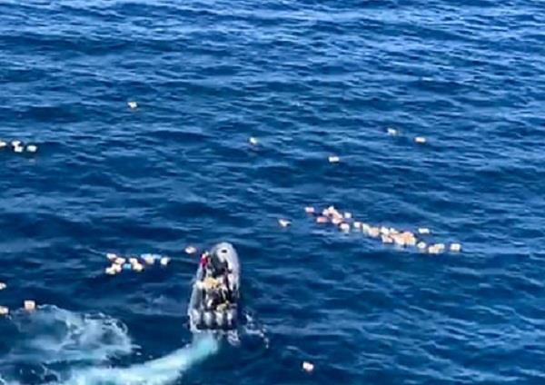spanish police plucked from ocean by drugs smugglers