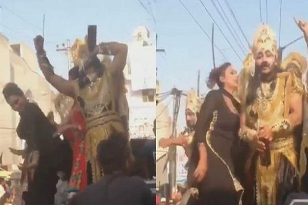 ravana drunkenly dances with girls