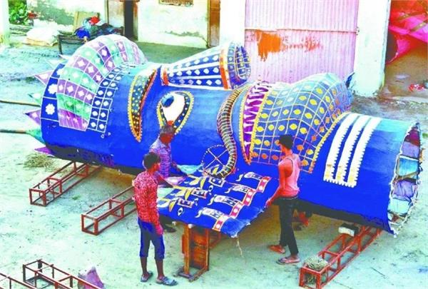 72 feet high effigy of ravana will burn in mathura on dussehra
