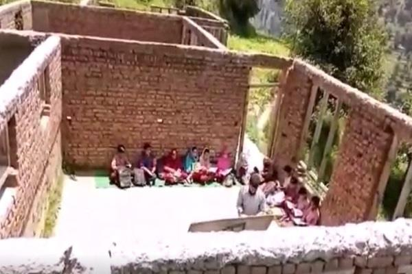students studying without roof school villagers warn agitation
