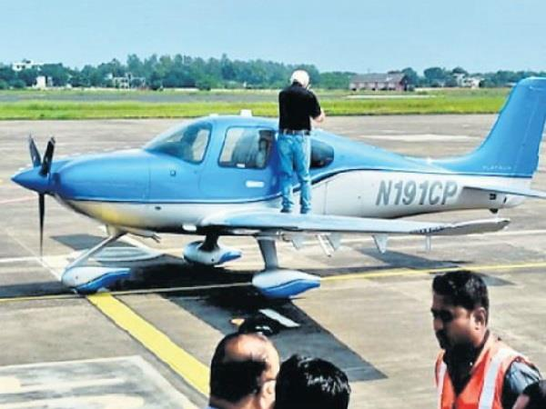emergency landing of aircraft from pakistan in indore