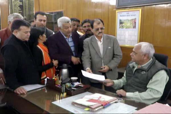 congress handover the memorandum to dc