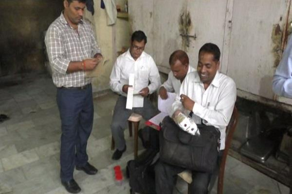 food safety department team raids sweets shops on dhanteras