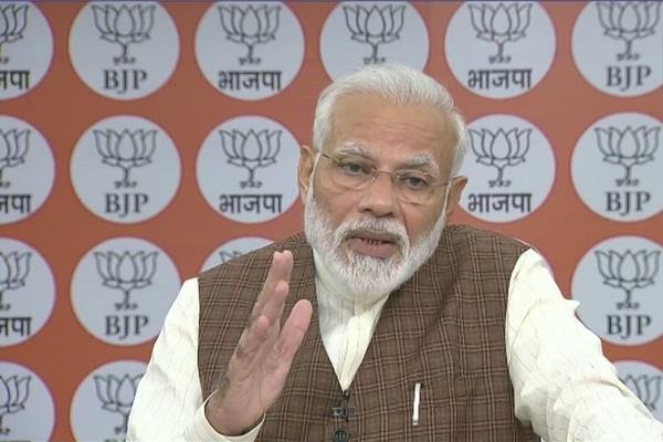 pm modi said to workers definitely buy a khadi cloth on diwali
