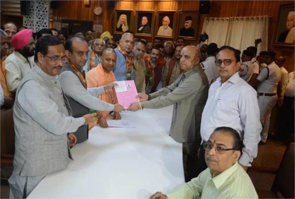 sudhanshu trivedi filed nomination for rajya sabha by election