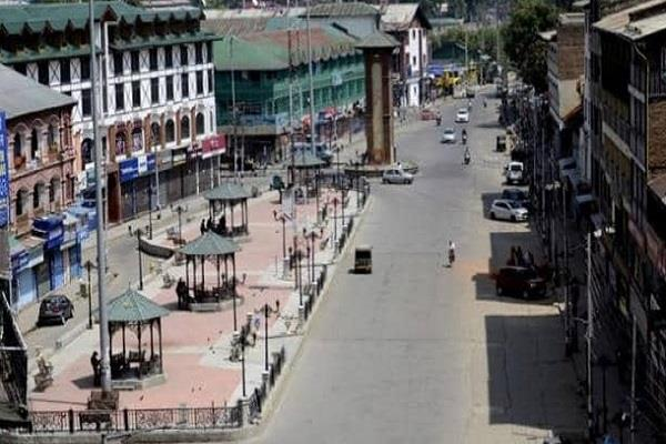 shops open lal chowk and trc chowk kashmir situation on 73rd day