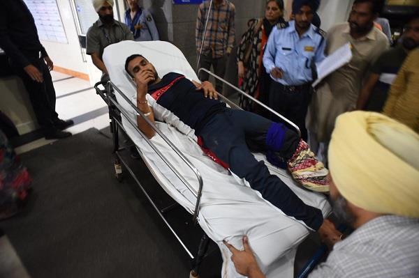 shot during voting akali worker injured