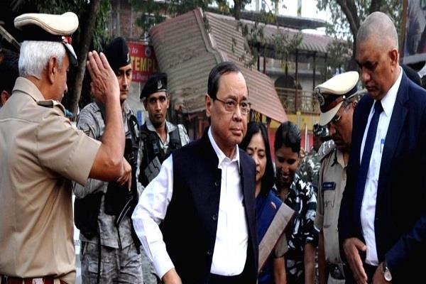 agencies alert for cji gogoi s security