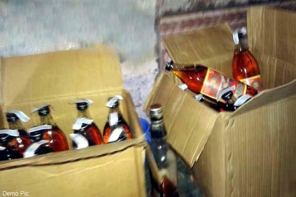 liquor recovered from bolero jeep