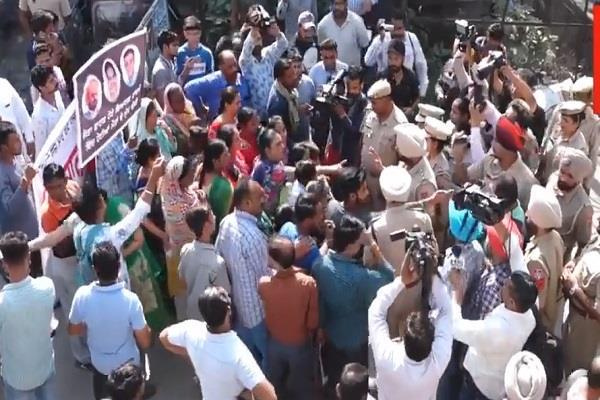 amritsar train accident dussehra families protest