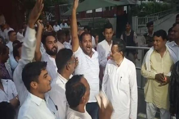 uproar in congress before ticket allocation