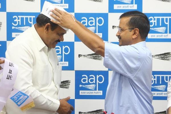 delhi chaudhary surendra kumar leaked aap membership accuses bjp