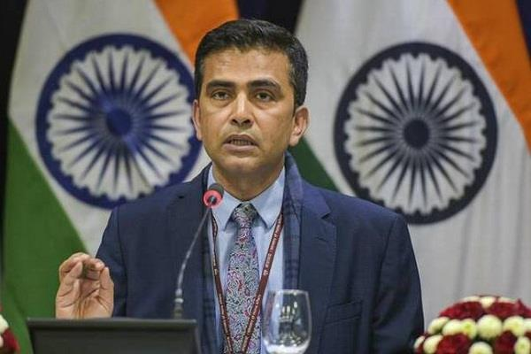 no other country has the right to speak on kashmir external affairs ministry