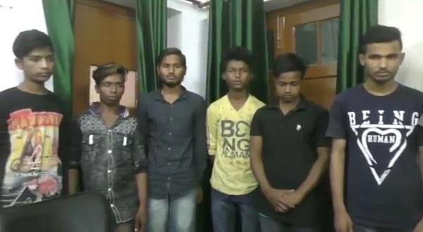stoned in moving trains for looting grp team caught 6 miscreants