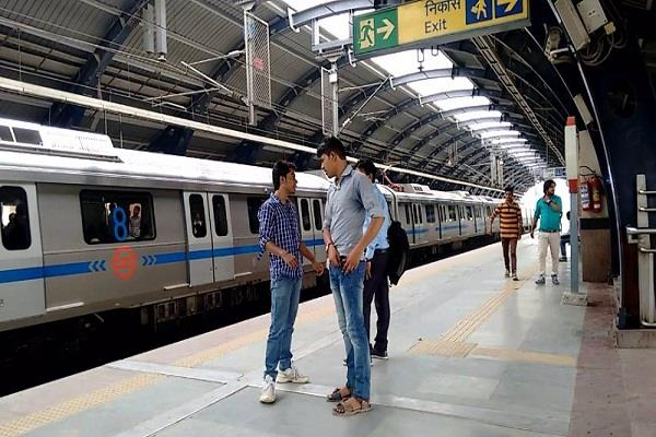 youth attempts suicide at uttam nagar east metro station jumps on track