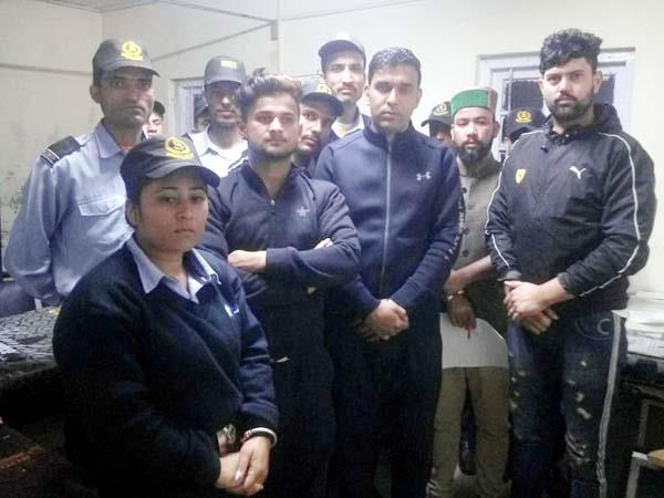scrurity gurad on strike in igmc
