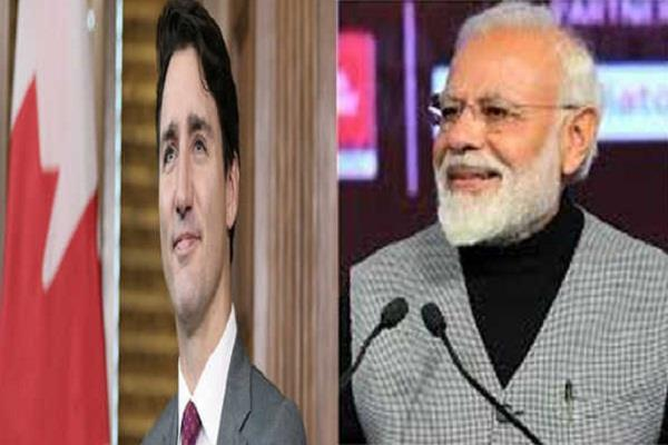 pm modi congratulates justin trudeau on his return to power