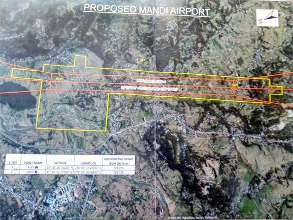theoretical approval to international airport in mandi