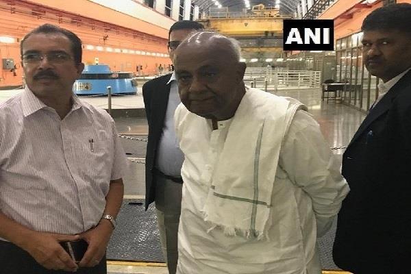 former prime minister hd deve gowda visited tehri dam