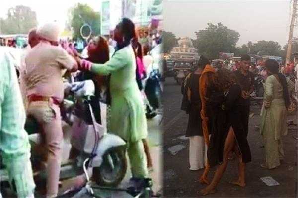 eunuchs attacked corporation team and police personnel