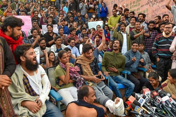 jnu administration demands action against students and police