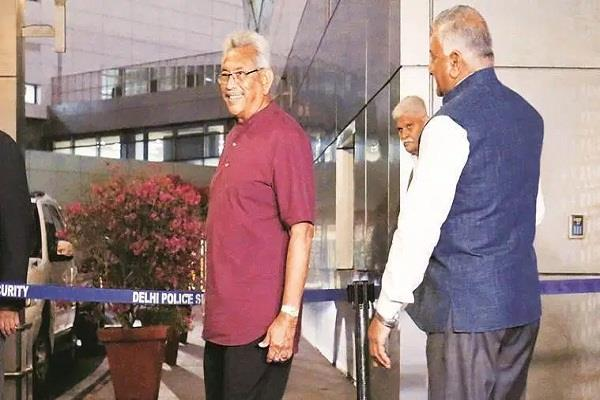 sri lankan president gotbaiah to meet pm modi today