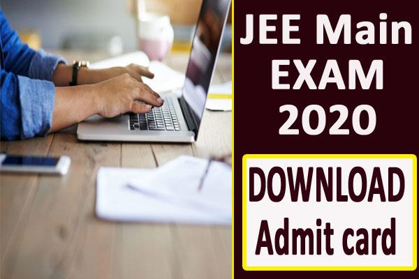 jee main 2020 admit card will be released on this day