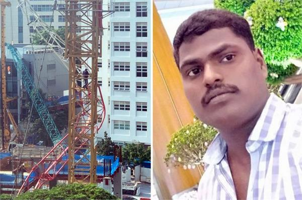singapore crane collapse body of indian worker being flown back