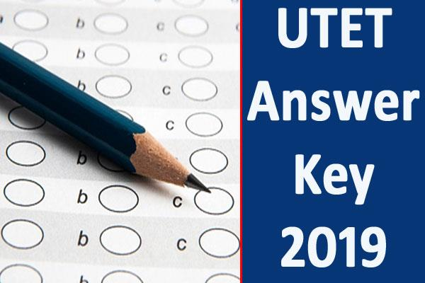 utet exam answer key 2019 released download soon
