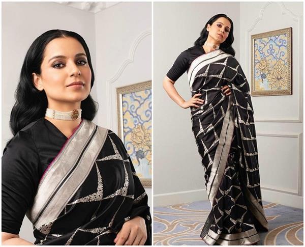 Fashion Icon:कंगना रनौत का ब्लैक अवतार मचा रहा है कहर