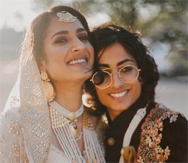 भारतीय-पाकिस्तानी की लेस्बियन वेडिंग, एक ने पहनी शेरवानी तो दूसरी ने साड़ी