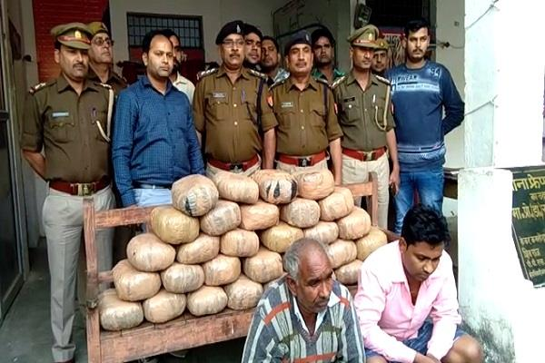 etawah police arrested two accused with 12 lakh hemp