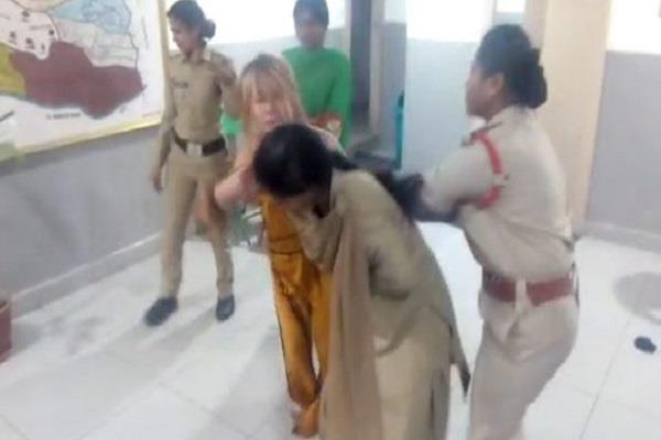 high voltage drama in a drunk woman police station