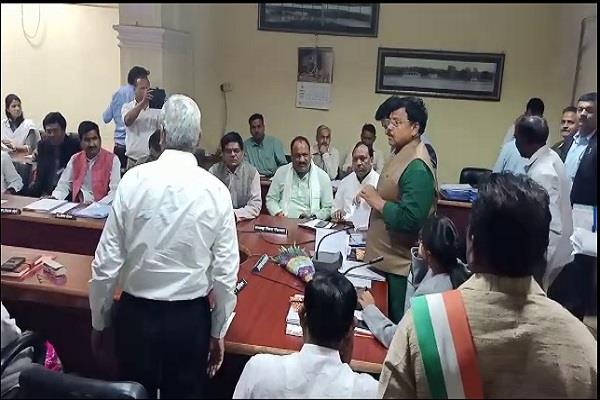 medical college dispute bjp mla makes serious allegations minister pradyumna
