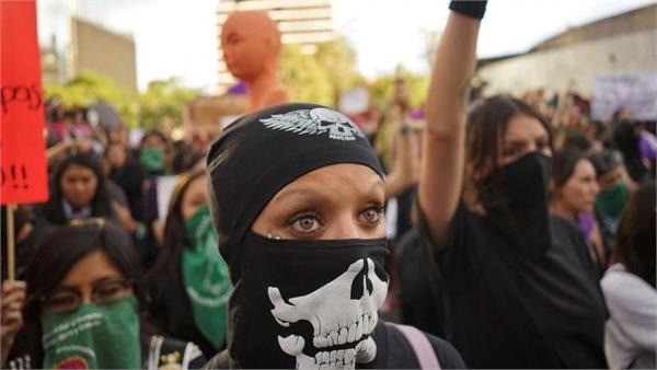people protested in mexico against women s violence