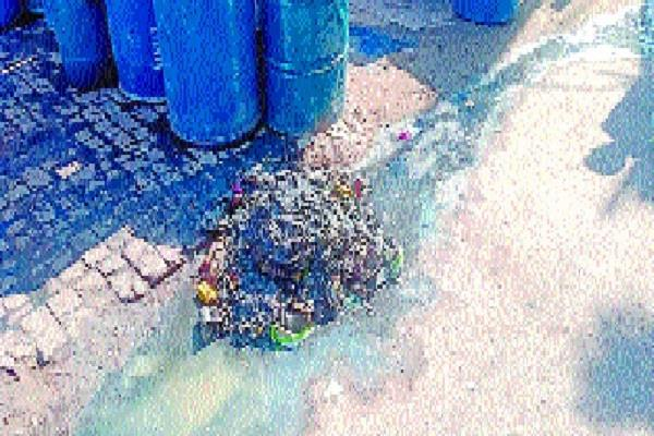photo of closed sewer sent to cm office corporation s team reached to clean
