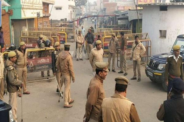 tight security in sensitive areas of kanpur