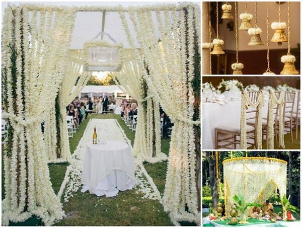 चमेली के फूलों से यूं करें Wedding Decor