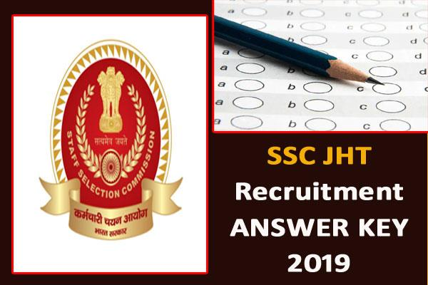 ssc junior hindi translator jht 2019 answer key released