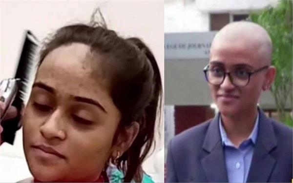 कैंसर पीड़ितों के लिए 19 साल की किरण ने दान किए अपने बाल