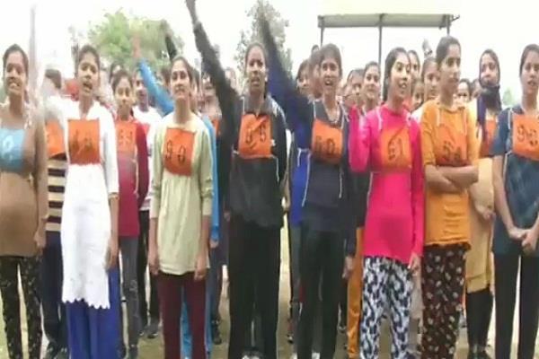 bsf recruitment started girls put their lives to wear uniform